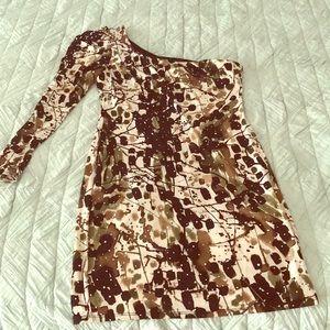 Arden B one shoulder mini dress